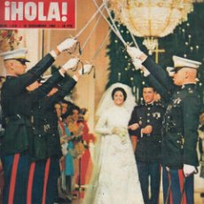 Coleccionismo de Revista Hola: REVISTA HOLA Nº 1216 AÑO 1967. BODA DE LYNDA BIRD Y CAPITAN CHARLES. BODA DE EL LITRI. SANTANA.. Lote 116556131