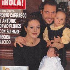 Collectionnisme de Magazine Hola: REVISTA HOLA Nº 2839 AÑO 1999. ROCIO CARRASCO Y ANTONIO FLORES JUNTO A SU HIJO. MAR FLORES. RAINIERO. Lote 116559667