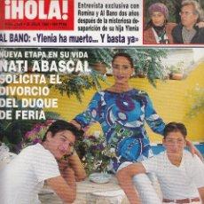 Colecionismo da Revista Hola: REVISTA HOLA Nº 2658 AÑO 1995.NATI AVASCAL.ROMINA Y AL BANO.BODA PAOLO DOMINGUIN Y MANUEL VILLANTA.. Lote 116562827