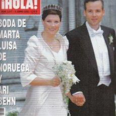 Coleccionismo de Revista Hola: REVISTA HOLA Nº 3017 AÑO 2002. BODA MARTA LUISA DE NORUEGA Y ARI BEHN. ROSA OPERACION TRIUNFO.. Lote 116563979