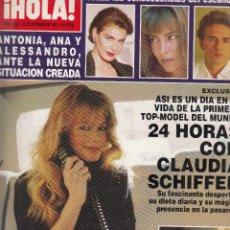 Coleccionismo de Revista Hola: REVISTA HOLA Nº 2568 AÑO 1993. CLAUDIA SCHIFFER. ROSARIO NADAL. JOHN KENNEDY. ANA OBREGON. . Lote 116599895