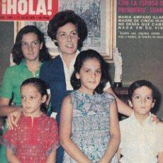 Coleccionismo de Revista Hola: REVISTA HOLA Nº 1664 AÑO 1978. MARIA AMPARO ILLANA E HIJOS. BODA JUAN CARLOS FIERRO. SABRINA LEON.. Lote 116601583
