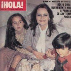 Coleccionismo de Revista Hola: REVISTA HOLA Nº 1801. ROCIO DURCAL. KABIR BEDI. MIA FARROW. . Lote 116602363