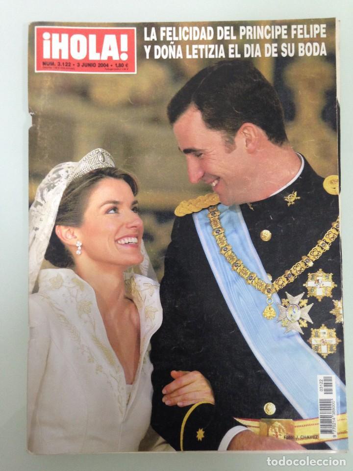 ¡HOLA!, BODA DEL PRINCIPE FELIPE Y DOÑA LETIZIA, Nº3122, 3-JUNIO 2004 (Coleccionismo - Revistas y Periódicos Modernos (a partir de 1.940) - Revista Hola)