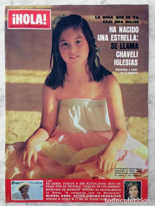 HOLA - 1981 - BROOKE SHIELDS, CHABELI IGLESIAS, AIDA TRUJILLO, ESTEFANÍA, MIGUEL BOSÉ, BO DEREK (Coleccionismo - Revistas y Periódicos Modernos (a partir de 1.940) - Revista Hola)