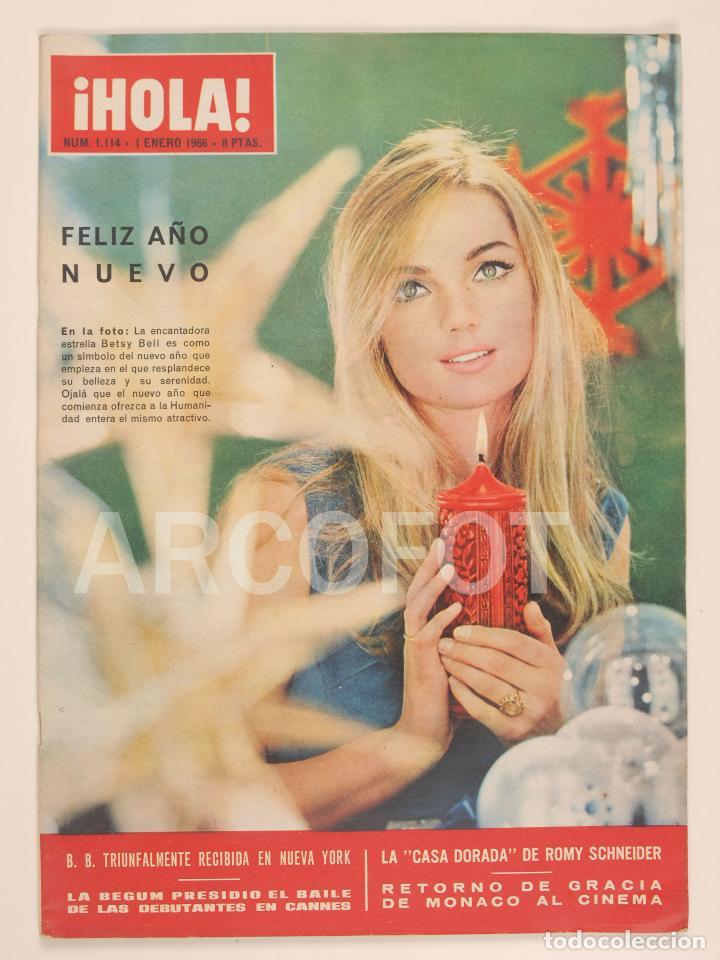 HOLA Nº 1114 - 1 DE ENERO DE 1966 (Coleccionismo - Revistas y Periódicos Modernos (a partir de 1.940) - Revista Hola)