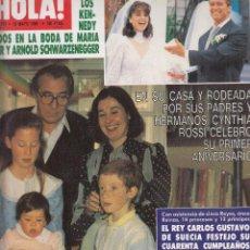 Coleccionismo de Revista Hola: REVISTA HOLA Nº 2177 AÑO 1986. BODA MARIA SHRIVER Y ARNOLD SCHWARZENEGGER ROSSI. REY CARLOS GUSTAVO.. Lote 117210439