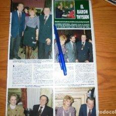 Coleccionismo de Revista Hola: RECORTE DE PRENSA : CARMEN CERVERA Y EL BARON THYSSEN. HOLA, FEBRERO 1988. Lote 117375343