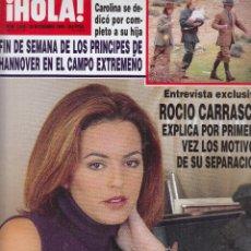Collectionnisme de Magazine Hola: REVISTA HOLA Nº 2885 AÑO 1999. ROCIO CARRASCO. FUNERAL ANTONIO GONZALEZ. PRINCIPES DE HANNOVER. . Lote 117430891