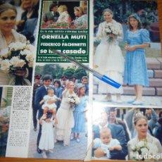 Coleccionismo de Revista Hola: RECORTE PRENSA : BODA DE ORNELLA MUTI. HOLA, JULIO 1988. Lote 117459287