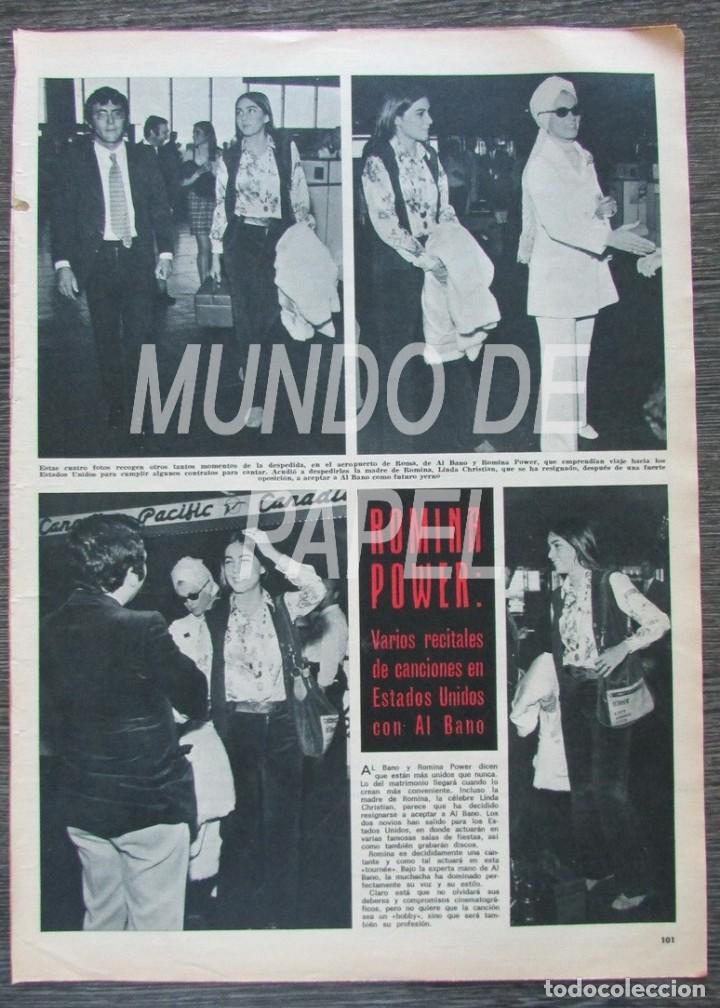 RECORTE HOLA Nº 1317 1969 ROMINA POWER. AL BANO. (Coleccionismo - Revistas y Periódicos Modernos (a partir de 1.940) - Revista Hola)