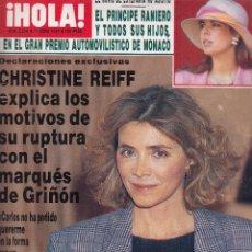 Collezionismo di Rivista Hola: REVISTA HOLA Nº 2234 AÑO 1987. P. RAINIERO. CHISTINE REIFF. PREYSLER. CHILENA CECILIA.MISS UNIVERSO.. Lote 117650427