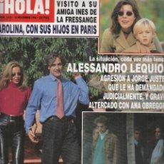 Coleccionismo de Revista Hola: REVISTA HOLA Nº 2622 AÑO 1994. ANA OBREGON, LEQUIO Y JUSTE. CAROLINA DE MONACO. THYSSEN. D.YORK.. Lote 117670251
