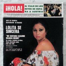 Collectionnisme de Magazine Hola: HOLA - 1978 - LOLITA, SENTA BERGER, JORGE CAFRUNE, J.M. SERRAT, CHICHO IBÁÑEZ SERRADOR, EARTHA KITT. Lote 53988434