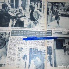 Coleccionismo de Revista Hola: RECORTE PRENSA : JOHNNY HALLYDAY, INTENTO DE SUICIDIO . HOLA, SEPTBRE 1966. Lote 117812059