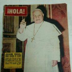 Coleccionismo de Revista Hola: HOLA 979.1 JUNIO 1963 JUAN XXIII. ALAIN DELON. Lote 118032004