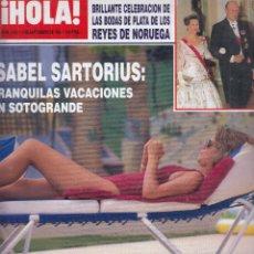 Collezionismo di Rivista Hola: REVISTA HOLA Nº 2561 AÑO 1993. ISABEL SARTORIUS. BODA PLATA REYES DE NORUEGA. BEATRIZ PREYSLER.. Lote 183522307