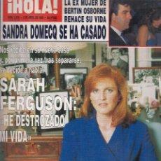 Coleccionismo de Revista Hola: REVISTA HOLA Nº 2539 AÑO 1993. BODA SANDRA DOMECQ. SARAH FERGUSON. TATIANA DE LIECHETENSTEIN. DIANA.. Lote 118102399