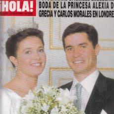 Coleccionismo de Revista Hola: REVISTA HOLA Nº 2867 AÑO 1999. BODA DE LA PRINCESA ALEXIA DE GRECIA Y CARLOS MORALES.. Lote 118195675