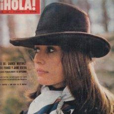 Collectionnisme de Magazine Hola: REVISTA HOLA Nº 1390 AÑO 1971. MARI DEL CARMEN MARTINEZ BORDIU Y JAIME RIVERA. CALONINA DE MONACO. . Lote 118282635