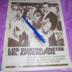 Coleccionismo de Revista Hola: PUBLICIDAD DE LA PELICULA : LOS CUATRO JINETES DEL APOCALIPSIS, GLENN FORD . HOLA, ABRIL 1962. Lote 118447979