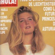 Coleccionismo de Revista Hola: REVISTA HOLA Nº 2643 AÑO 1995. TATIANA DE LIECHTENSTEN. BODA INFANTA ELENA. ANA OBREGON ATROPELLO.. Lote 118492823