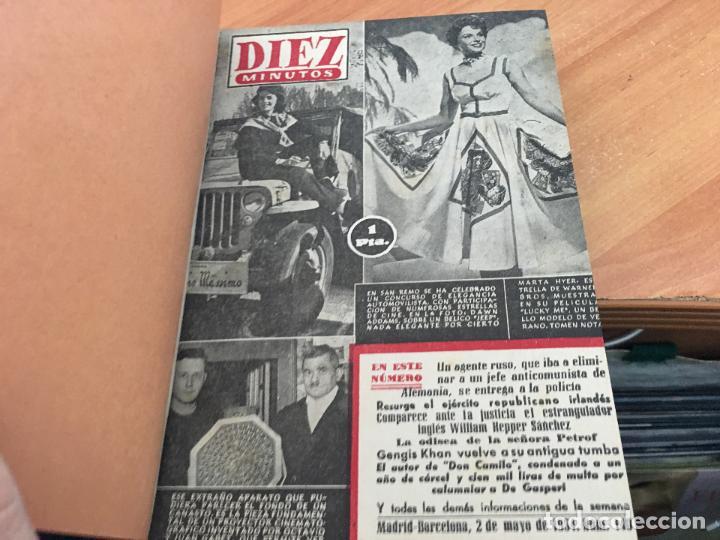 Coleccionismo de Revista Hola: DIEZ MINUTOS. LOTE 4 TOMOS CON 161 EJEMPLARES MUY BUEN ESTADO CON PORTADILLAS MARILYN MONROE (LB34) - Foto 3 - 118611159