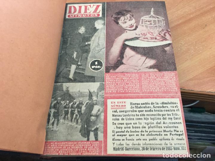 Coleccionismo de Revista Hola: DIEZ MINUTOS. LOTE 4 TOMOS CON 161 EJEMPLARES MUY BUEN ESTADO CON PORTADILLAS MARILYN MONROE (LB34) - Foto 4 - 118611159