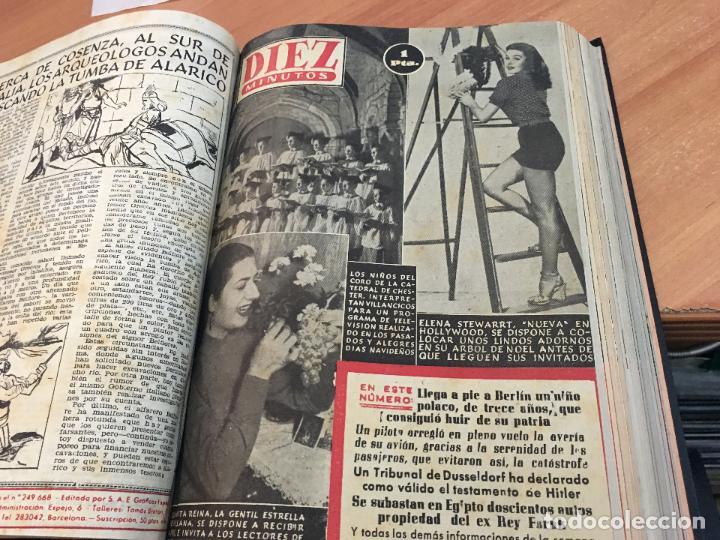 Coleccionismo de Revista Hola: DIEZ MINUTOS. LOTE 4 TOMOS CON 161 EJEMPLARES MUY BUEN ESTADO CON PORTADILLAS MARILYN MONROE (LB34) - Foto 5 - 118611159