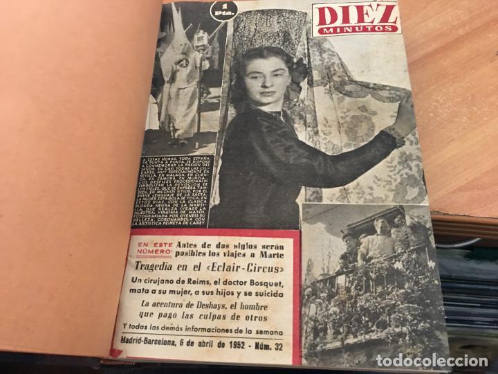 Coleccionismo de Revista Hola: DIEZ MINUTOS. LOTE 4 TOMOS CON 161 EJEMPLARES MUY BUEN ESTADO CON PORTADILLAS MARILYN MONROE (LB34) - Foto 6 - 118611159