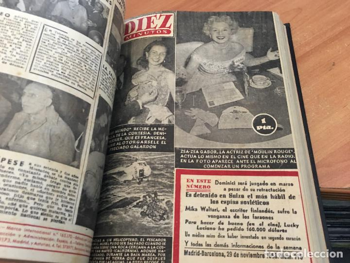 Coleccionismo de Revista Hola: DIEZ MINUTOS. LOTE 4 TOMOS CON 161 EJEMPLARES MUY BUEN ESTADO CON PORTADILLAS MARILYN MONROE (LB34) - Foto 7 - 118611159
