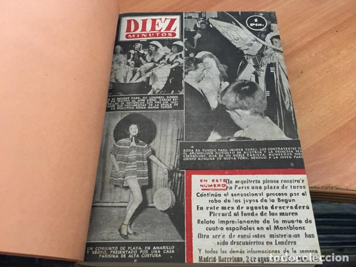 Coleccionismo de Revista Hola: DIEZ MINUTOS. LOTE 4 TOMOS CON 161 EJEMPLARES MUY BUEN ESTADO CON PORTADILLAS MARILYN MONROE (LB34) - Foto 8 - 118611159