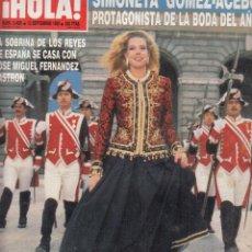 Coleccionismo de Revista Hola: REVIST HOLA Nº 2405 AÑO 1990. SIMONETA GOMEZ ACEBO. BERTIN OSBORNE. GYBILL SHEPHERD. . Lote 118632123
