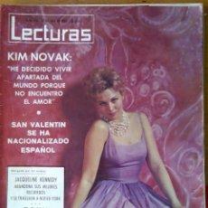 Coleccionismo de Revista Hola: LECTURAS LOTE 11 REVISTAS AÑOS 60 NÚMEROS 481-483-589-596-608-639-650-660-664-667-669. Lote 118706479