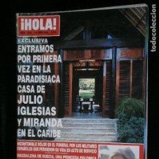 Coleccionismo de Revista Hola: F1 HOLA Nº 3070 AÑO 2003 ENTRAMOS POR PRIMERA VEZ EN LA CASA DE JULIO IGLESIAS EN EL CARIBE.. Lote 118883455