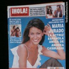 Coleccionismo de Revista Hola: F1 HOLA Nº 3079 AÑO 2003 MARIA JURADO LA ACTRIZ ESPAÑOLA AMIGA DE ANDREA CASIRAGHI. Lote 118888771