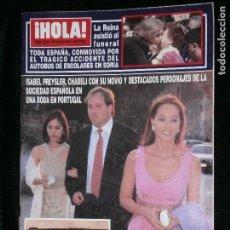 Coleccionismo de Revista Hola: F1 HOLA Nº 2919 AÑO 2000 ISABEL PRESLEY CHABELI CON SU NOVIO EN UNA BODA EN PORTUGAL.. Lote 118934203