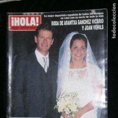 Coleccionismo de Revista Hola: F1 HOLA Nº 2921 AÑO 2000 BODA DE ARANCHA SANCHEZ VICARIO Y JOAN VEHILS . Lote 118975263