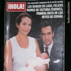 Coleccionismo de Revista Hola: F1 HOLA Nº 2928 AÑO 2000 LOS DUQUES DE LUGO FELICES PADRES DE VICTORIA FEDERICA . Lote 118977587