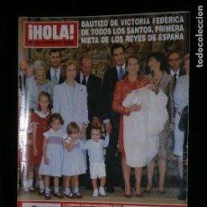Coleccionismo de Revista Hola: F1 HOLA Nº 2932 AÑO 2000 BAUTIZO DE VICTORIA FEDERICA DE TODOS LOS SANTOS . Lote 118978455