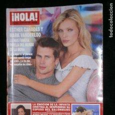Coleccionismo de Revista Hola: F1 HOLA 2931 AÑO 2000 ESTHER CAÑADAS Y MARK VANDERLOO LA MAS FAMOSA PAREJA DEL MUNDO DE LA MODA . Lote 118981227