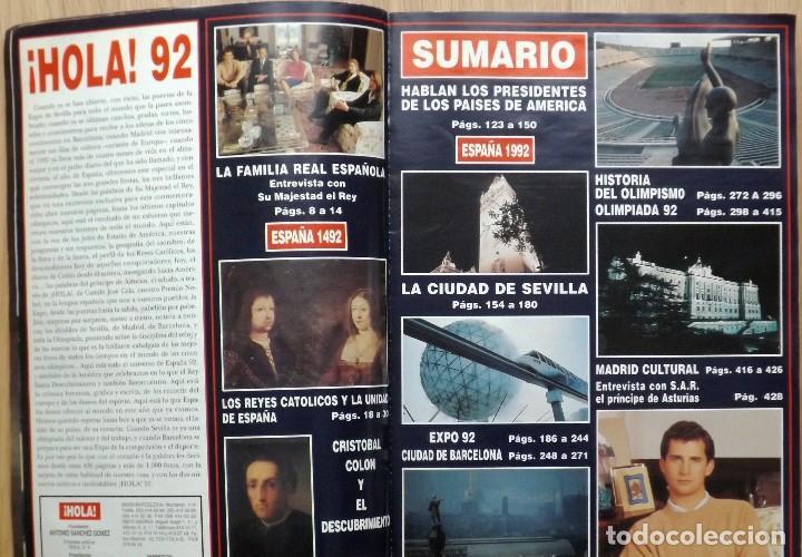 Coleccionismo de Revista Hola: HOLA 1992 EXPO SEVILLA Nº ESPECIAL - Foto 2 - 119006659