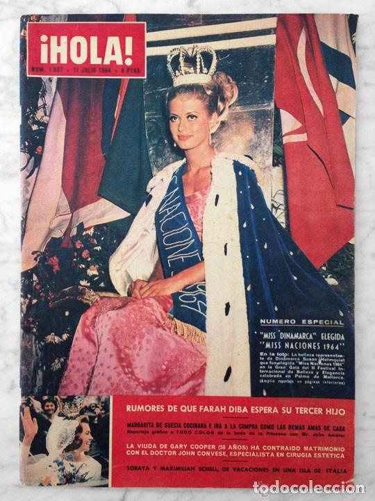 HOLA - 1964 - SUSAN HOLMQUIST (MISS NACIONES), FARAH DIBA, CARMEN SEVILLA, A HITCHCOCK Y GRACE KELLY (Coleccionismo - Revistas y Periódicos Modernos (a partir de 1.940) - Revista Hola)