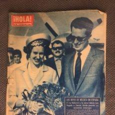Coleccionismo de Revista Hola: HOLA!! REVISTA NO.936 LOS REYES DE BÉLGICA EN ESPAÑA (A.1962. Lote 119531010