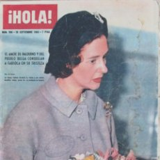 Coleccionismo de Revista Hola: HOLA 996 1963 FABIOLA AURORA BAUTISTA MAGALI NOEL ADRIANA GARDIAZABAL DIOR SOFIA LOREN DOLORES HART. Lote 119850839