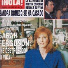 Coleccionismo de Revista Hola: REVISTA HOLA Nº 2539 AÑO 1993. BODA SANDRA DOMECQ. SARAH FERGUSON. TATIANA DE LIECHETENSTEIN. DIANA.. Lote 120022627