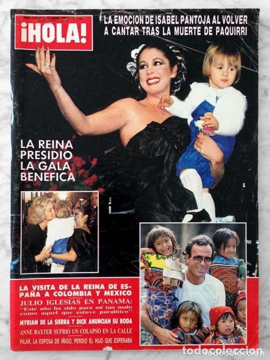 HOLA - 1985 - ISABEL PANTOJA, OLIVIA NEWTON-JOHN, ISABEL PREYSLER, JULIO IGLESIAS, MIGUEL BOSÉ (Coleccionismo - Revistas y Periódicos Modernos (a partir de 1.940) - Revista Hola)