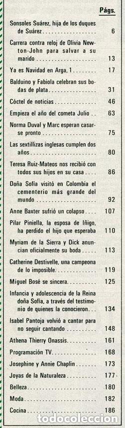 Coleccionismo de Revista Hola: HOLA - 1985 - ISABEL PANTOJA, OLIVIA NEWTON-JOHN, ISABEL PREYSLER, JULIO IGLESIAS, MIGUEL BOSÉ - Foto 2 - 95906435