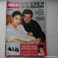 Coleccionismo de Revista Hola: REVISTA HOLA N°2275 AÑO 1988 - LOLITA GUILLERMO E HIJA - CAMILO SESTO. Lote 120656531