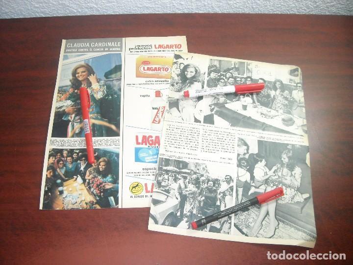 JUNIO AÑO 1968- CLAUDIA CARDINALE EN ALMERIA CONTRA EL CANCER- 3 PAGINAS -RECORTE PRENSA (Coleccionismo - Revistas y Periódicos Modernos (a partir de 1.940) - Revista Hola)